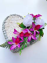 Dekorácie - Spomienkové srdce - 13457462_