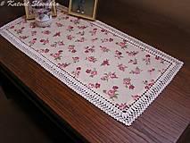 Úžitkový textil - ***  Prestieranie  malé ružičky *** (obdľžník 27 x 58 cm) - 13459428_