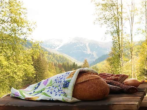 Ľanové vrecko na chlieb narcis