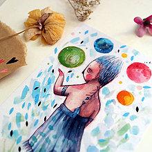 Kresby - Svet môj v pozore/ print - 13458566_