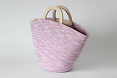 Kabelky - Provazová kabelka fialová - 13458210_