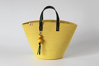 Kabelky - Provazová kabelka žlutá - 13458219_