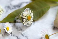 Prstene - Prsteň Sedmokráska srdce 3058 B CHO - 13457990_
