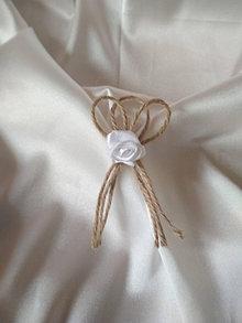Pierka - vintage pierko-biela ružička - 13458843_