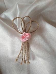 Pierka - vintage pierko-ružová ružička - 13458856_