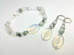 Sady šperkov - Súprava šperkov opalitová - 13458016_