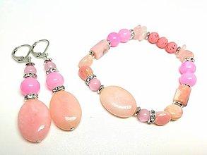 Sady šperkov - Súprava šperkov ružová - 13459955_