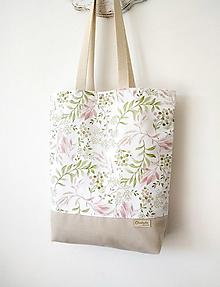 Nákupné tašky - taška Lístky - 13458454_