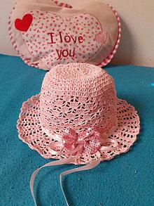 Detské čiapky - Hackovany klobucik pre dievcatko - 13457915_