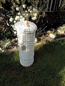 Košíky - Zásobník na toaletný papier biely - 13459383_