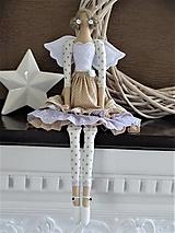 Bábiky - Hnedá volánová anjelka - 13460734_