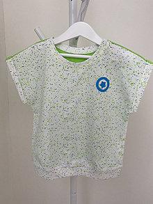 Detské oblečenie - Chlapčenské voľné bavlnené tričko - 13461619_