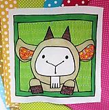 Textil - Bavlnený panel UŠI SI SÁM - Zvieratko z dvora - 13462812_