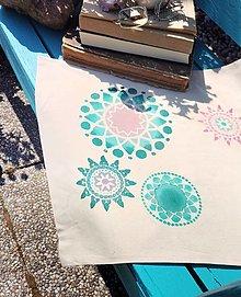Iné tašky - Plátená taška/ Ľúbezný smaragd - 13462018_
