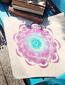 Iné tašky - Plátená taška/ Ružová rosa - 13462040_