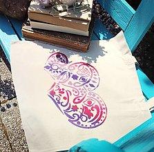 Iné tašky - Plátená taška/ Láska je všetko čo potrebuješ - 13462089_