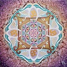 Obrazy - Pod krídlami neba/ Mandala vesmírnej ochrany - 13462319_