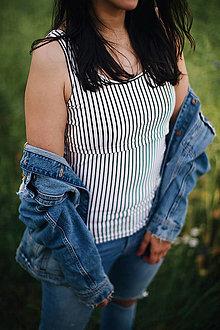 Tričká - Tielko na dojčenie stripes - 13460768_