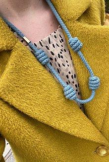 Náhrdelníky - Dlouhý náhrdelník - baby blue - 13462391_