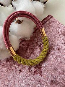 Náramky - Náramek - zeložlutá a růžová - 13462530_