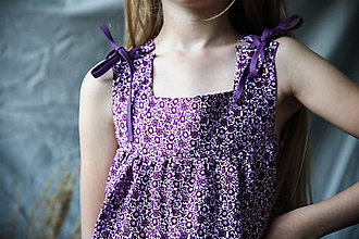 Detské oblečenie - Dievčenské ľanové šaty - 13462664_