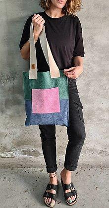 Veľké tašky - CARIBE3 kožená shopperka - 13462654_