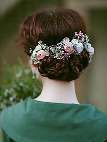 """Ozdoby do vlasov - Kvetinová aplikácia """"blízkosť duše"""" - 13461694_"""