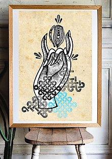 Grafika - Art print- Grafika Karana mudra - 13460774_