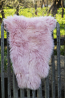 Nábytok - Ovčia kožušina rúžová - 13460911_