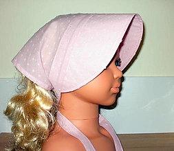 Detské čiapky - šatka so šiltom na uviazanie - 13462673_