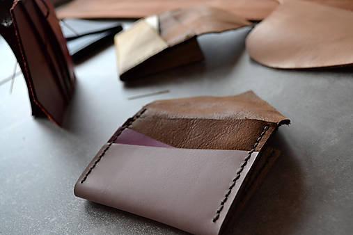 Dizajnová kožená peňaženka mini Odzuzičky (Ružová)