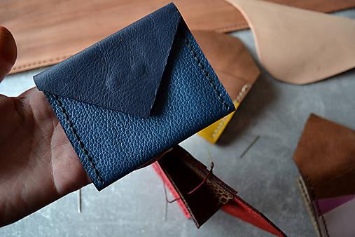 Dizajnová kožená peňaženka mini Odzuzičky (Modrá)