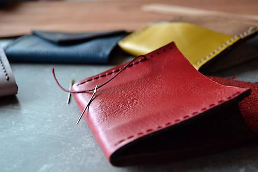 Dizajnová kožená peňaženka mini Odzuzičky (Červená)