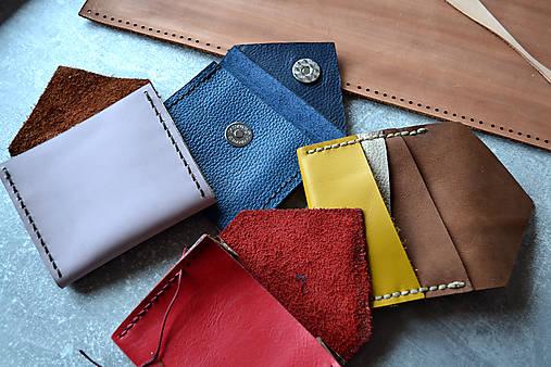Dizajnová kožená peňaženka mini Odzuzičky (Žltá)