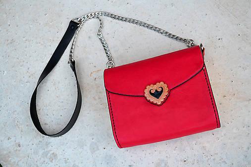 Kožená kabelka Zuzička červená