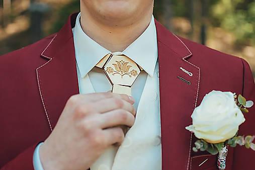 Drevená kravata folk od Dorky (Tulipán)