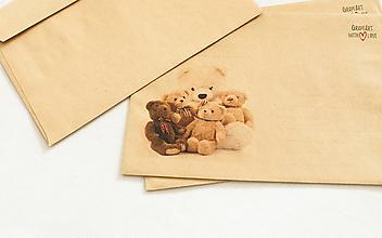 """Papier - Craft obálka / Recyklovaná C6 """" Teddy"""" - 13461311_"""