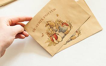 """Papier - Craft obálka / Recyklovaná C6 """"Beatrix II. Potter"""" - 13461331_"""