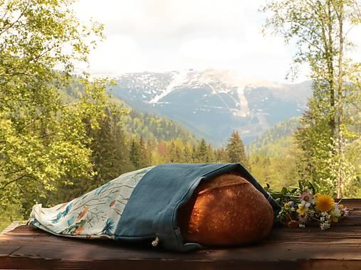 Ľanové vrecko na chlieb púpavy