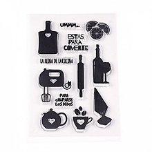 Pomôcky/Nástroje - Silikónové razítka, pečiatky - 11x15 cm, kuchyňa, víno, čaj - 13464075_