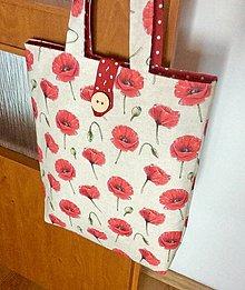 Nákupné tašky - taška vlčie maky - 13463362_