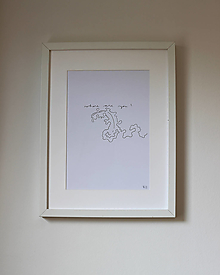 Obrazy - where are you? . kresba fixou . A4 - 13465480_