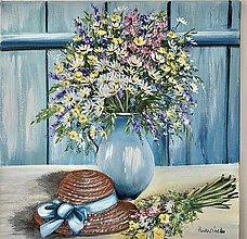 Obrazy - Zátišie lúčne kvety - 13465210_