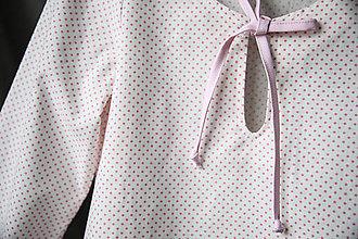 Detské oblečenie - Jemná dievčenská tunika ružová - 13463856_