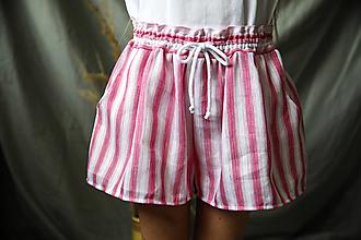 Detské oblečenie - detské ľanové nohavice krátke - 13464416_