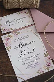 """Papiernictvo - Svadobné oznámenie """"Staroružový kvet"""" ❤ - 13463949_"""