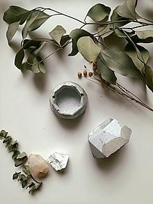 Nádoby - Mini betónové kvetináčiky - 13463333_