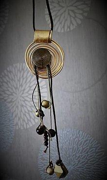 Náhrdelníky - Náhrdelník špirála - 13464143_