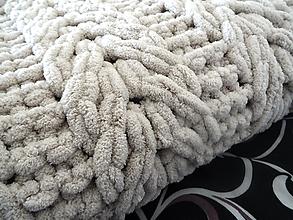 Úžitkový textil - Pletená deka  - 13464479_