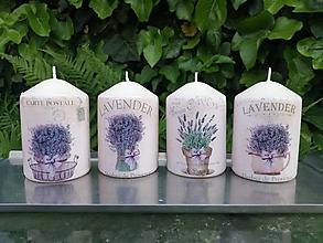 Svietidlá a sviečky - levanduľa 4 - 13464077_